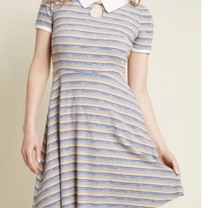 MODCLOTH striped collared dress